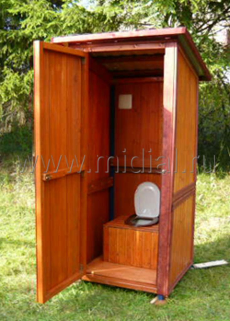 Уличный туалет своими руками фото